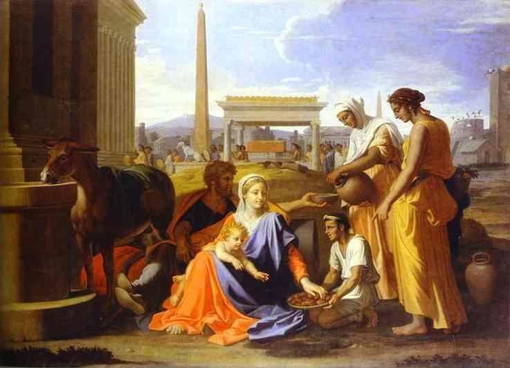 Nicolas Poussin. Rest on the Flight to Egypt.