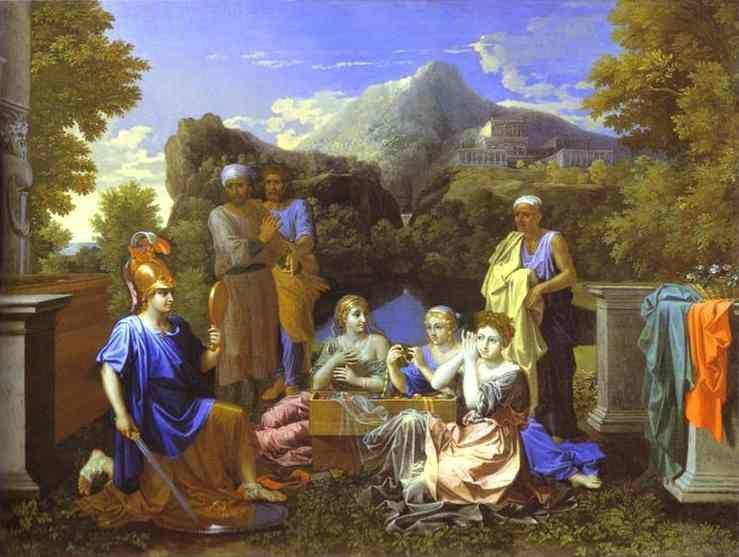 Nicolas Poussin. Achilles with the Daughters of Lacomede.