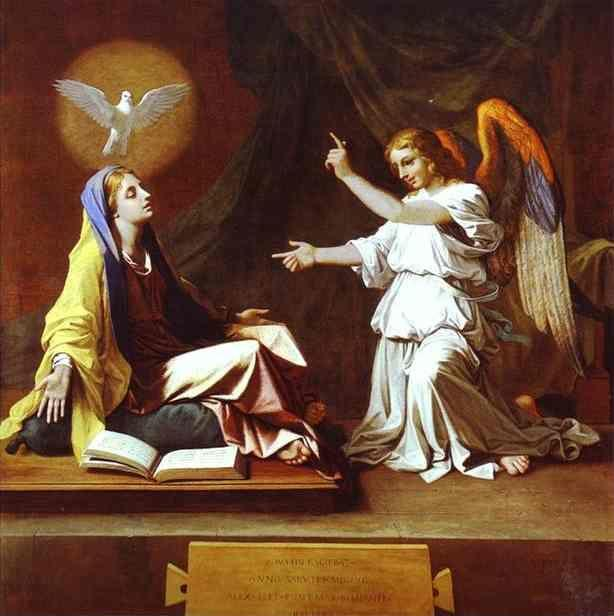 Nicolas Poussin. The Annunciation.