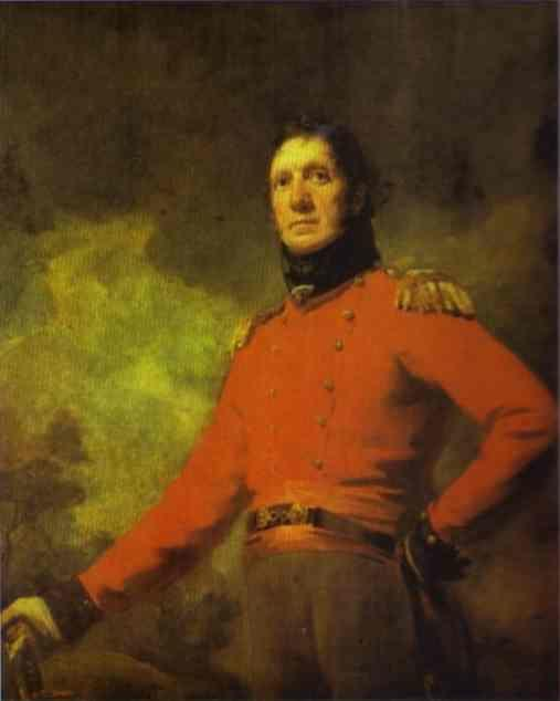 Sir Henry Raeburn. Portrait of Colonel  Francis James Scott.