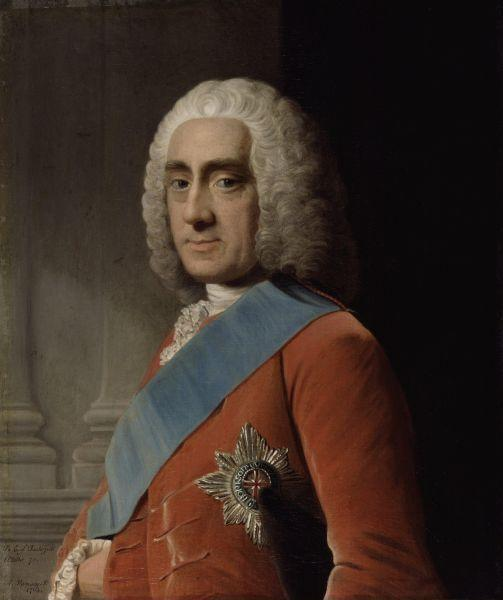 Allan Ramsay. Portrait of Philip Stanhope, 4th Earl Chesterfield.