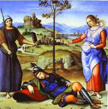 Raphael. Allegory (The Knight's Dream).