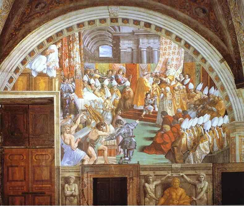 Raphael. The Coronation of Charlemagne.