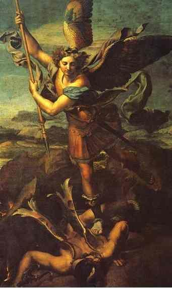 Raphael. St. Michael and Satan.