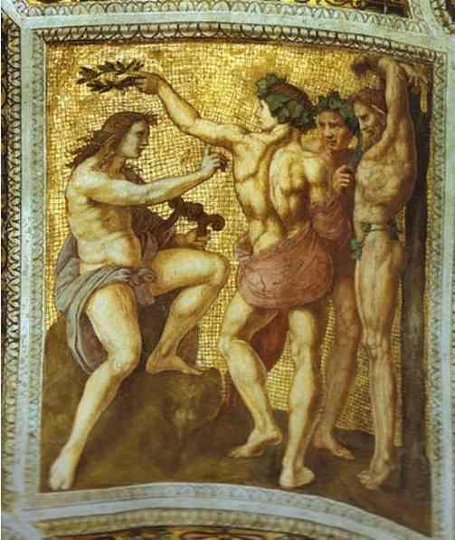 Raphael. Apollo and Marsyas (ceiling  panel).