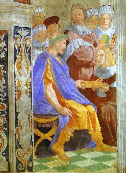 Raphael. Justinian Presenting the Pandects  to Trebonianus.