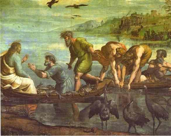 Raphael. Cartoon for The Miraculous Draught of Fishes.