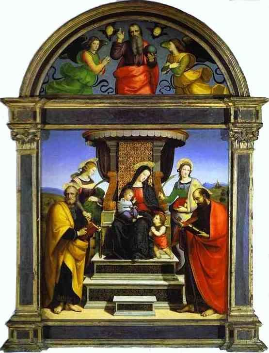 Raphael. Madonna and Child Enthroned with Saints.