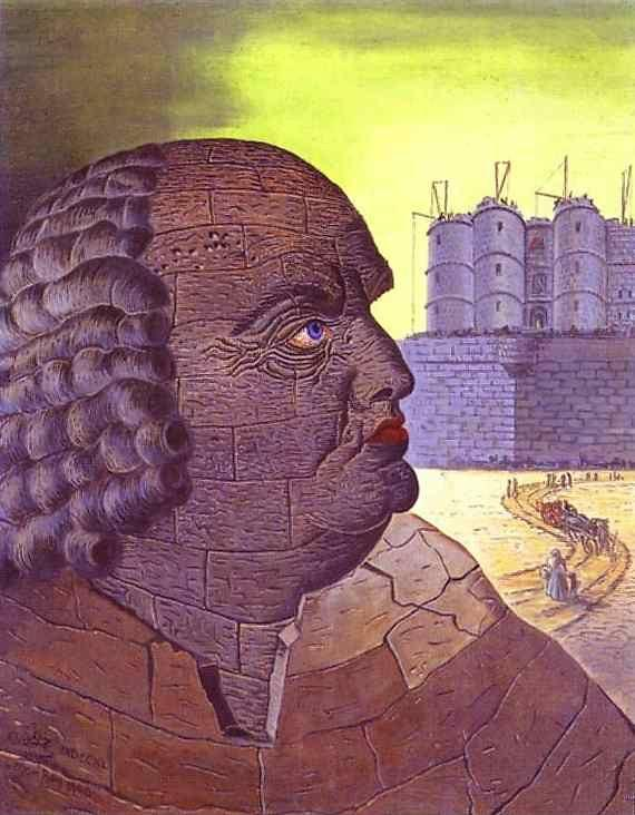 Man Ray. Imaginary Portrait of the Marquis  de Sade.