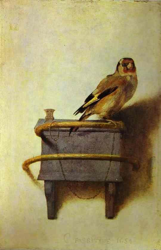 Carel Fabritius. The Goldfinch.