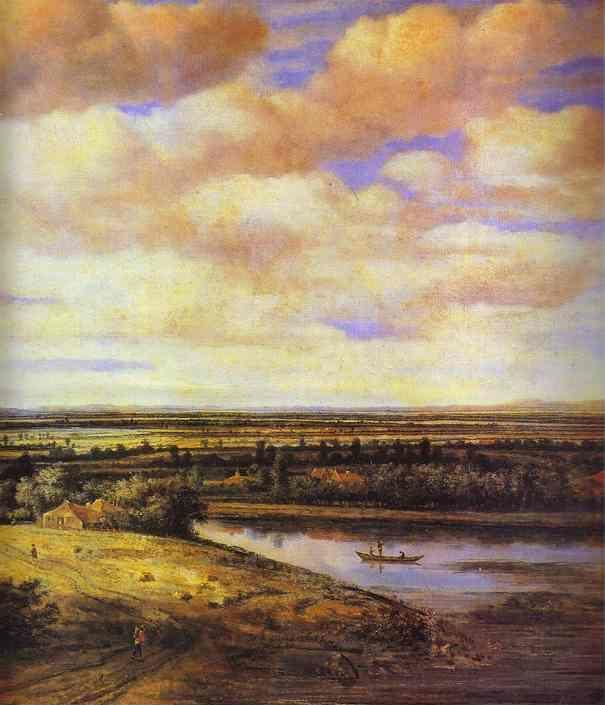 Philips Köninck. Holland Landscape. Detail.