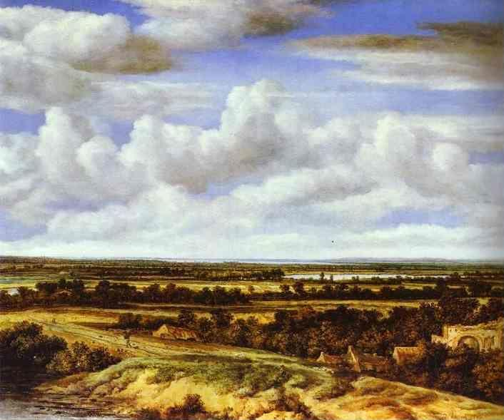 Philips Köninck. An Extensive  Landscape with a Road by a Ruin.