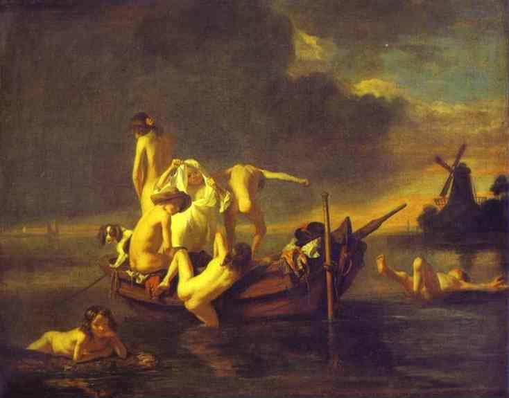 Nicolaes Maes. Boys Bathing.