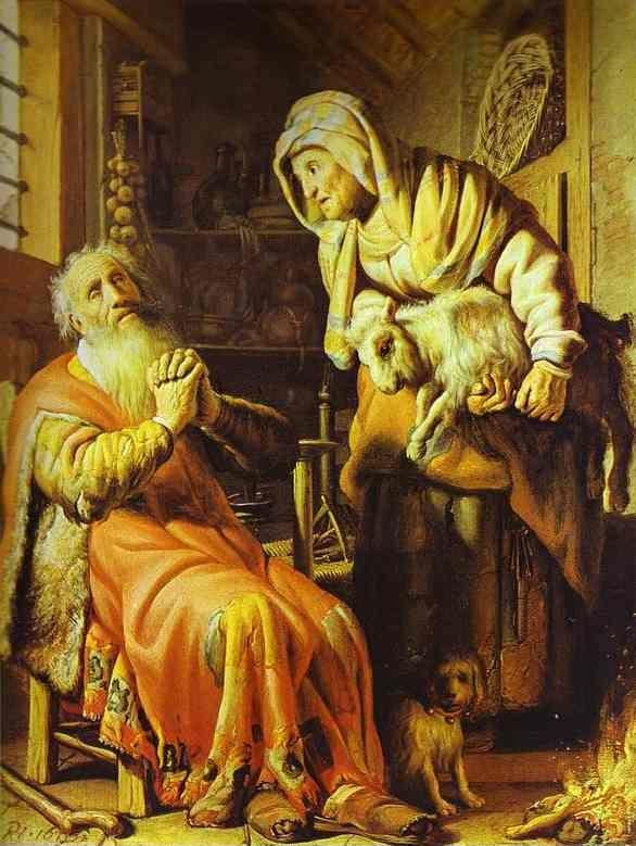Rembrandt. Tobit and Anna.