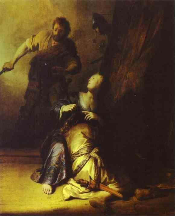 Rembrandt. Samson Betrayed by Delilah.