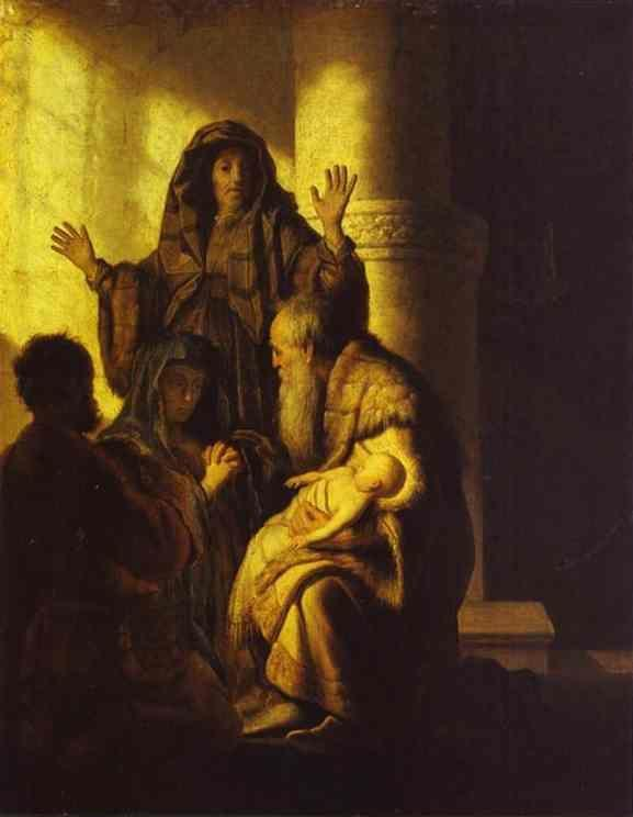 Rembrandt. The Presentation of Jesus  in the Temple.