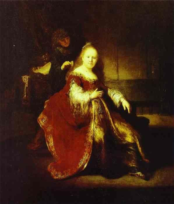 Rembrandt. Esther Preparing to Intercede  with Assuerus (?).