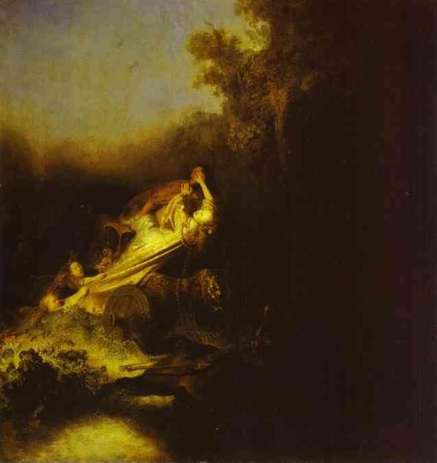 Rembrandt. The Abduction of Proserpine.