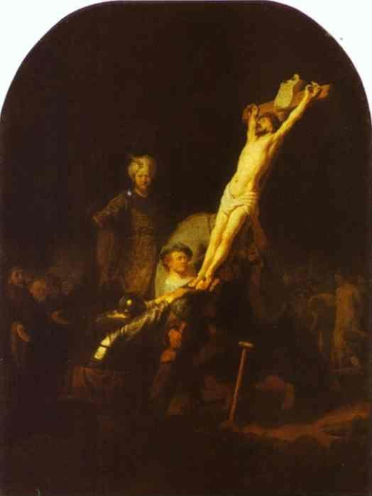 Rembrandt. The Raising of the Cross.