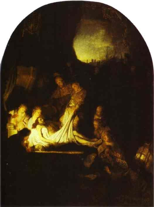 Rembrandt. The Entombment of Christ.