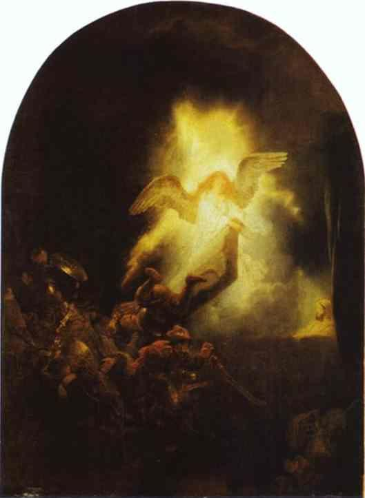 Rembrandt. The Resurrection of Christ.