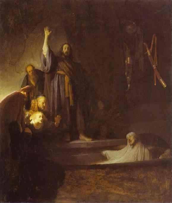 Rembrandt. The Raising of Lazarus.
