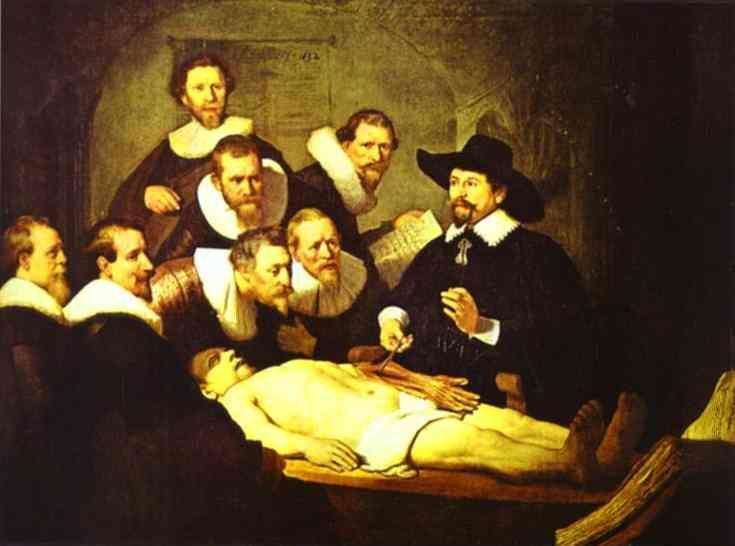 Rembrandt. Doctor Nicolaes Tulp's  Demonstration of the Anatomy of the Arm.