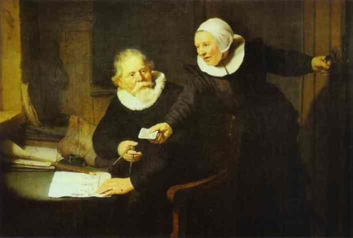 Rembrandt. The Shipbuilder Jan Rijcksen  and His Wife Griet Jans.
