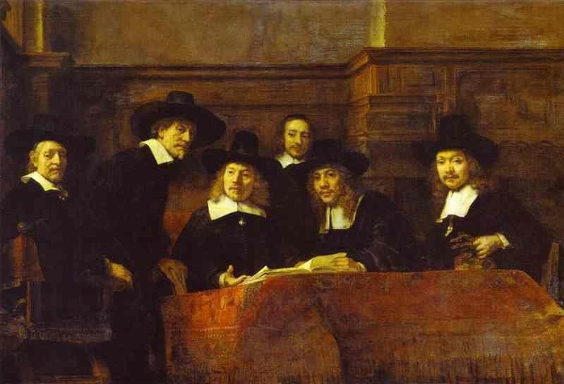 Rembrandt. The Syndics of the Clothmakers'  Guild (The Staalmeesters).