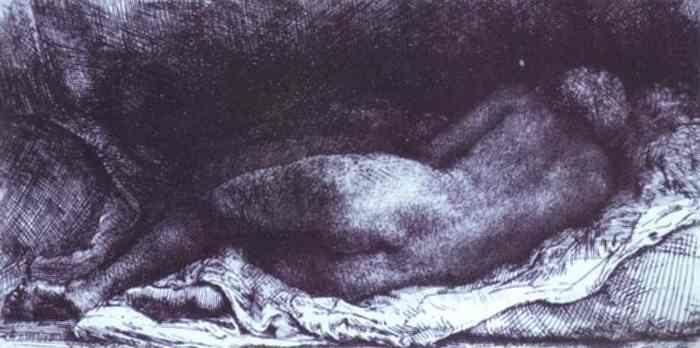 Rembrandt. Woman Lying Down.