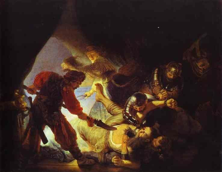 Rembrandt. The Blinding of Samson.