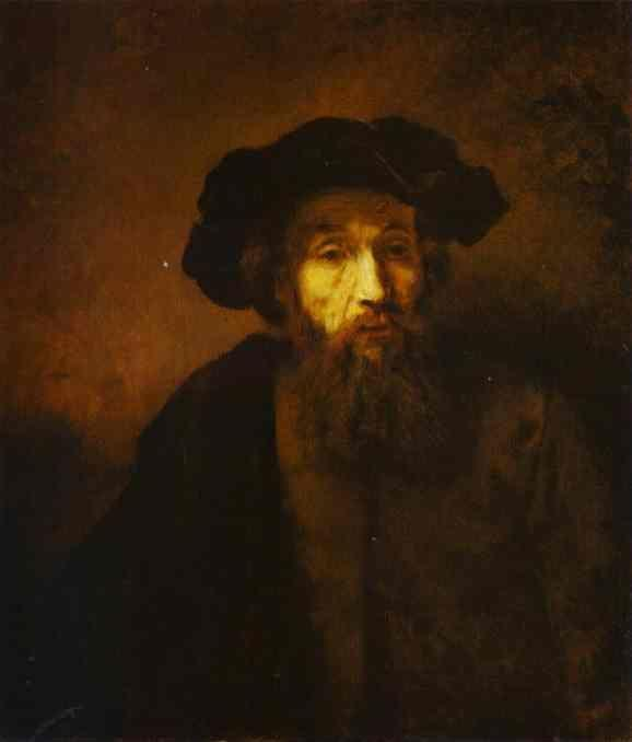 Rembrandt. A Bearded Man in a Beret.
