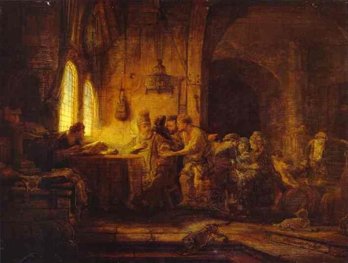 Rembrandt. The Parable of the Laborers  in the Vineyard.