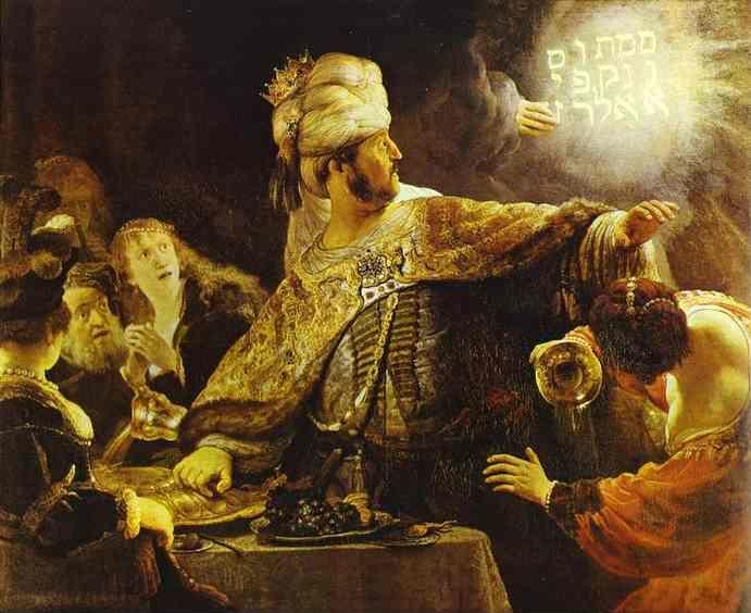 Rembrandt. The Feast of Belshazzar.