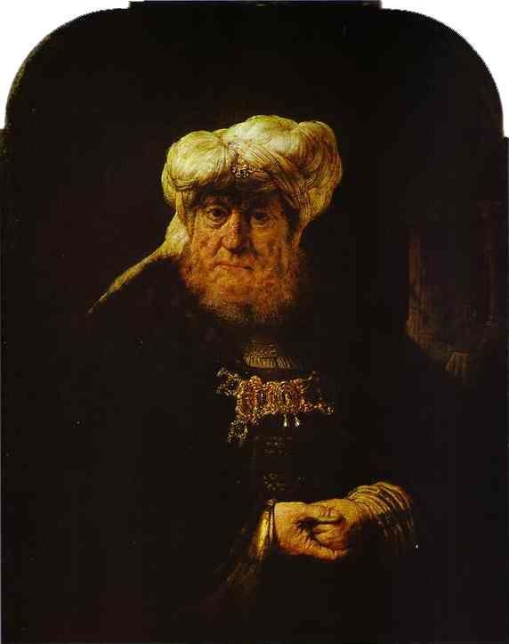 Rembrandt. The King Uzziah Stricken  with Leprosy.