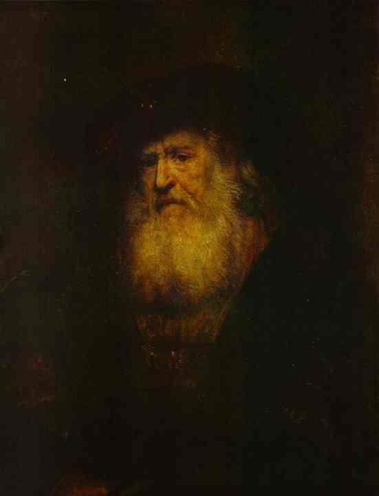 Rembrandt. Portrait of a Bearded Man  in Black Beret.