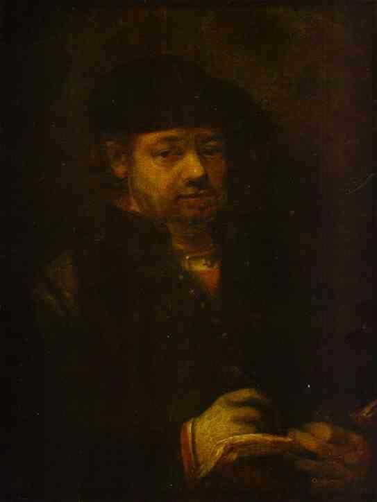 Rembrandt. Self-Portrait with a Sketch-Book.