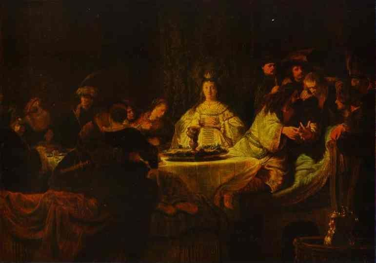 Rembrandt. Samson Putting Forth His  Riddles at the Wedding Feast.