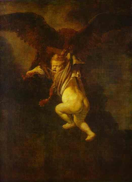 Rembrandt. The Abduction of Ganymede.