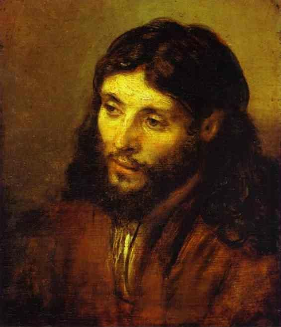 Rembrandt. The Head of Christ.