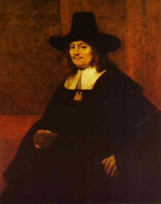 Rembrandt. Portrait of a Man in a  Tall Hat.