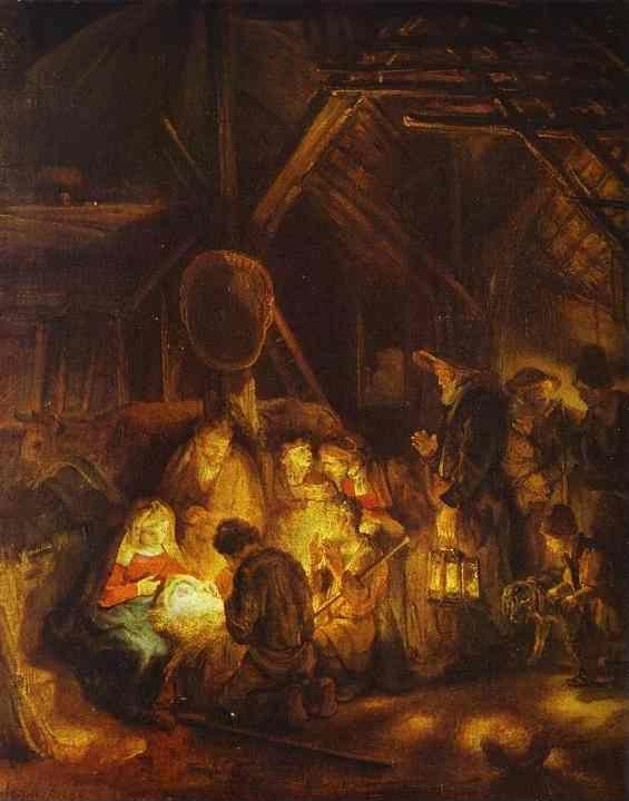 Rembrandt. Adoration of the Shepherds.