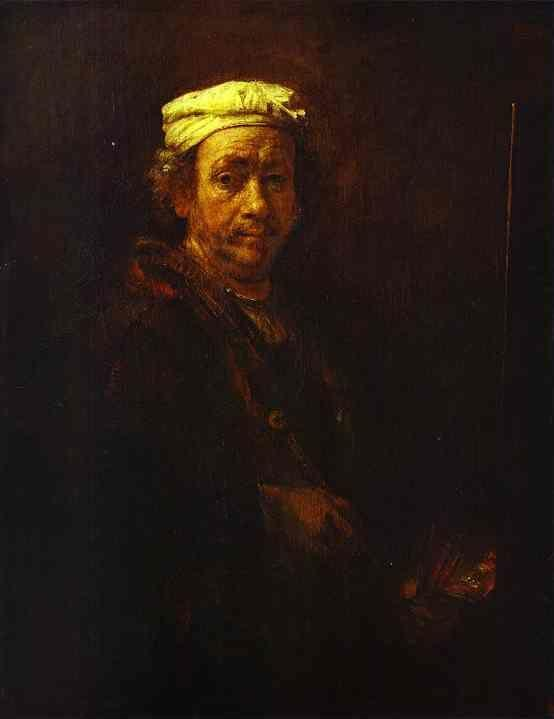 Rembrandt. Self-Portrait at the Easel.
