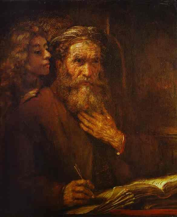 Rembrandt. St. Mathew and Angel.
