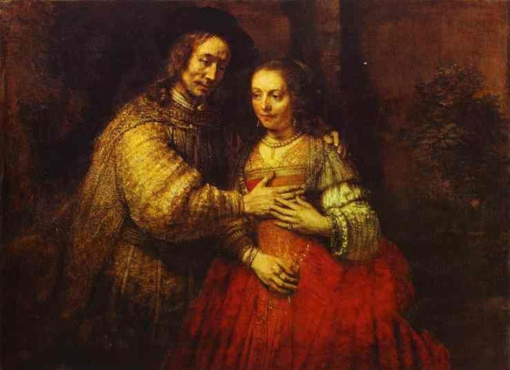 Rembrandt. Isaac and Rebecca. (The  Jewish Bride).