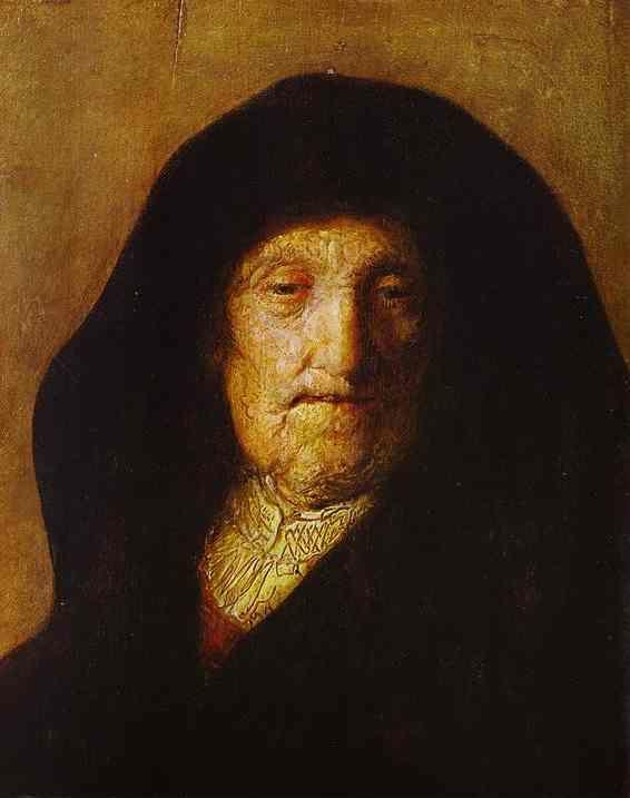 Rembrandt. Portrait of Rembrandt's  Mother.