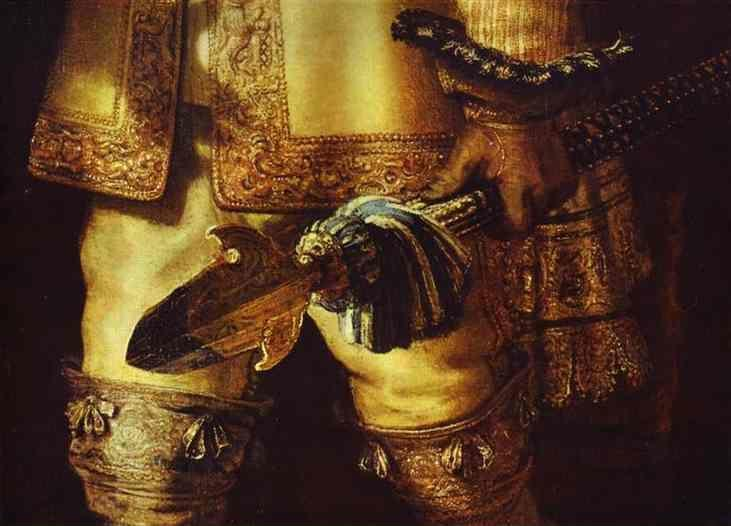 Rembrandt. The Night Watch (The Militia  Company of Captain Frans Banning Cocq and of Lieutenant Willem van Ruytenburgh). Detail.