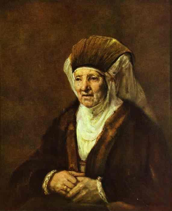 Rembrandt. Portrait of an Old Woman.