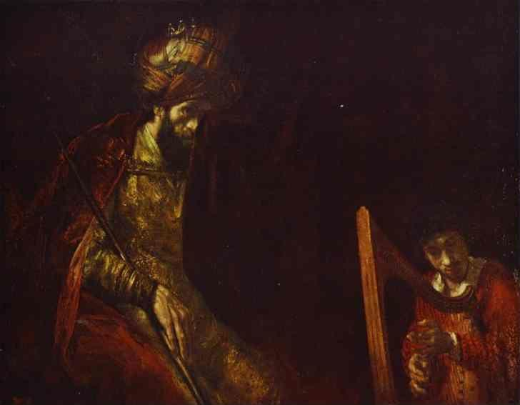 Rembrandt. David Playing the Harp  before Saul.