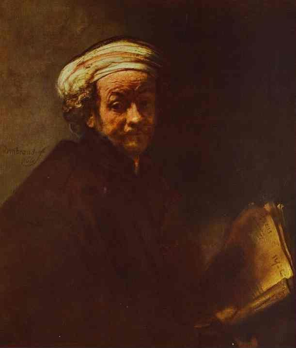 Rembrandt. Self-Portrait as St. Paul.